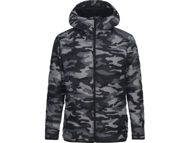 Peak Performance Helium Down Hooded Jacket Herr pattern